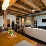 Timber beams in an authentic West Loop Chicago Loft