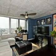 Living area at R+D 659 West Loop condo for sale by Best Chicago Properties