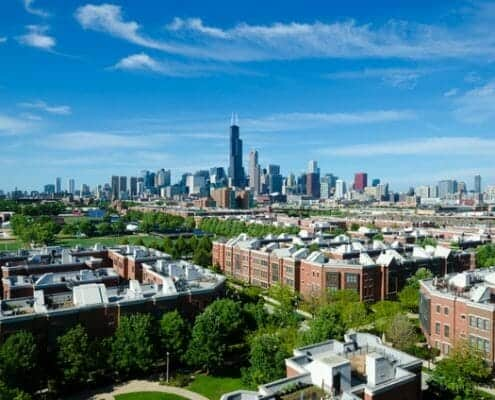 University Village Penthouse loft condo with awesome Chicago views.