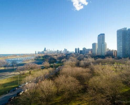 Lincoln Park One Bedroom Condo With Awesome Views - View From Living Area of2800 N Lakeshore Drive Unit 1006