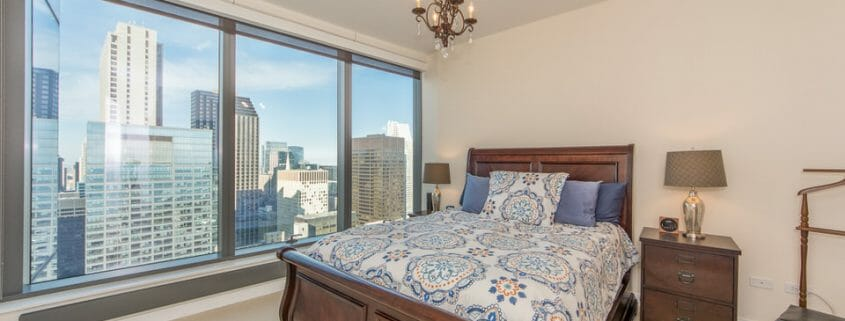 Chicago highrise condo with views - bedroom