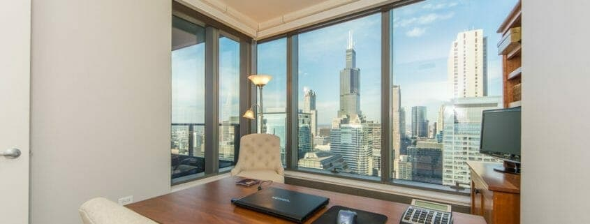 Chicago highrise condo with views - office Chicago High-rise Condo with Views