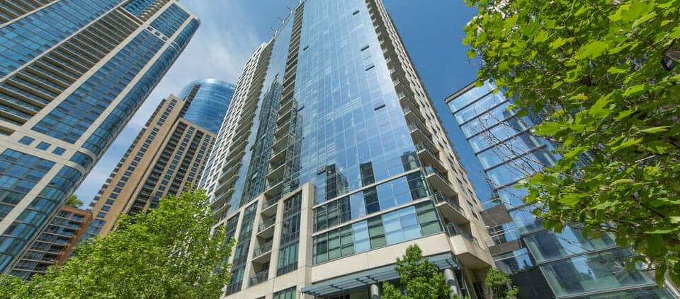 Condo With Views Of Lakeshore East Park 201 North Westshore Drive Exterior