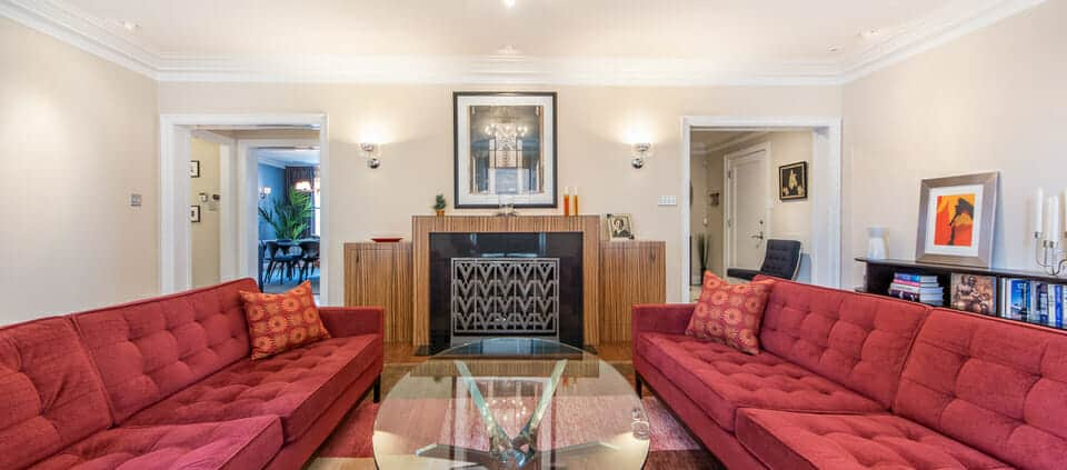 classic Lakeshore Drive condo - living room