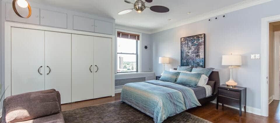 classic Lakeshore Drive condo - master bedroom