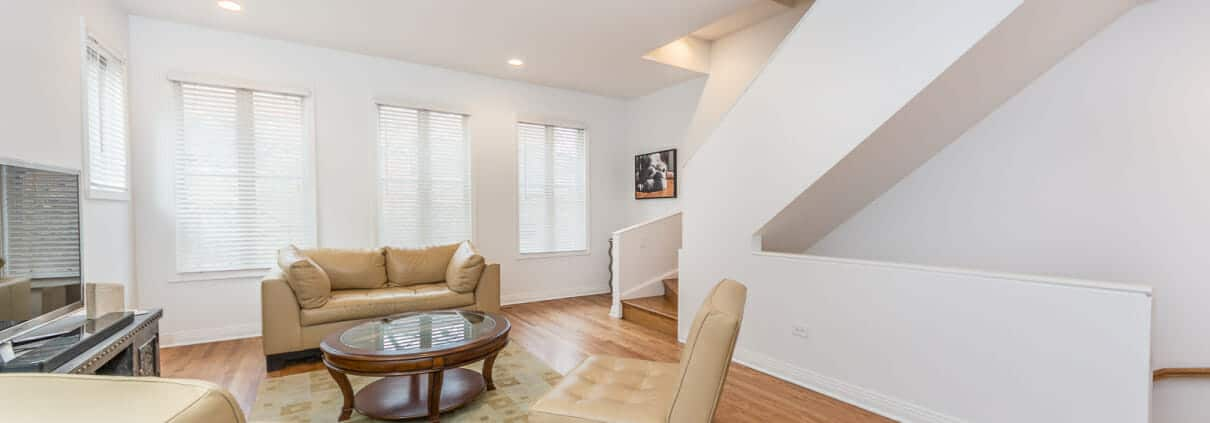 West Loop 3-Bedroom Townhome For Sale - Living - 115 South Racine Ave, Chicago, IL 60607