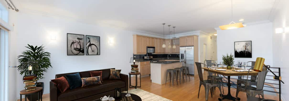 1639 North Oakley Avenue, Unit D1, Chicago, IL 60647 - Living Area - Bucktown 3 Bedroom Condo