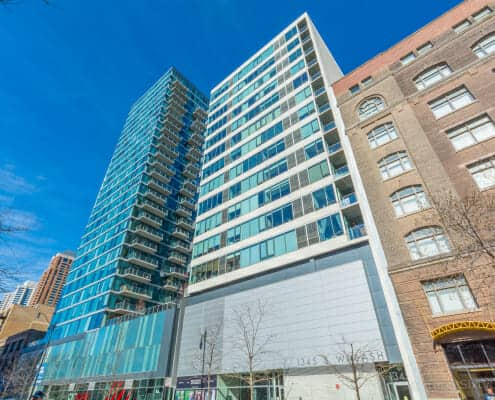 Exterior photo of 1345 S Wabash Ave condos for sale in Chicago.