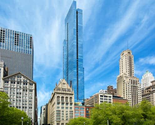 60 E Monroe Exterior - The Legacy at Millennium Park Condos - Best Chicago Properties