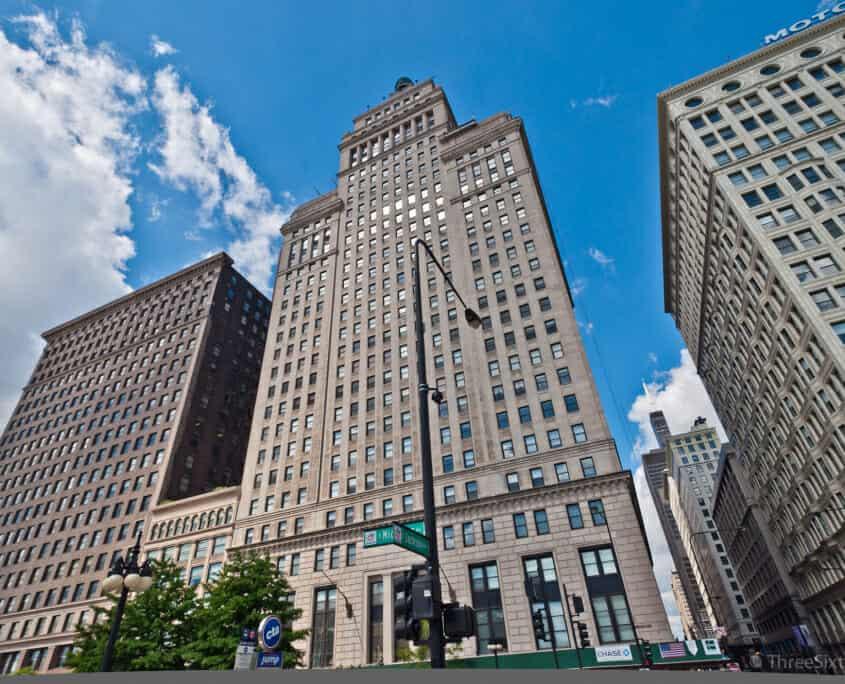 Exterior of Metropolitan Tower Condos at 310 S Michigan Ave, Chicago IL 60604