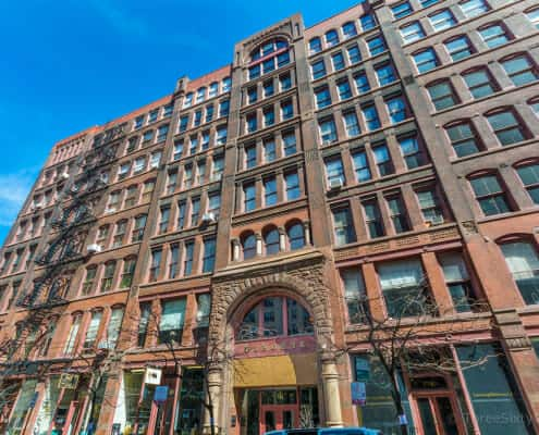 Donohue lofts for sale, 711 S Dearborn, Chicago, IL - Donohue Building Exterior