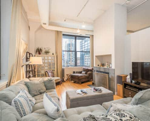 Printers Row Concrete Loft For Sale