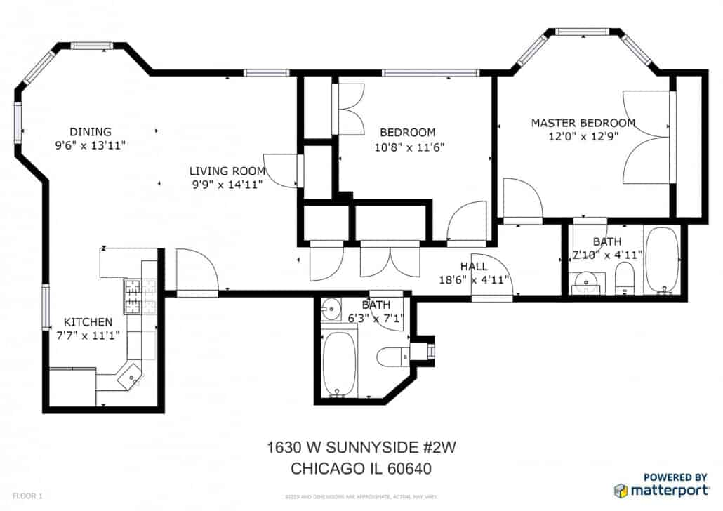 1630 W Sunnyside Ave Unit 2W Floorplan