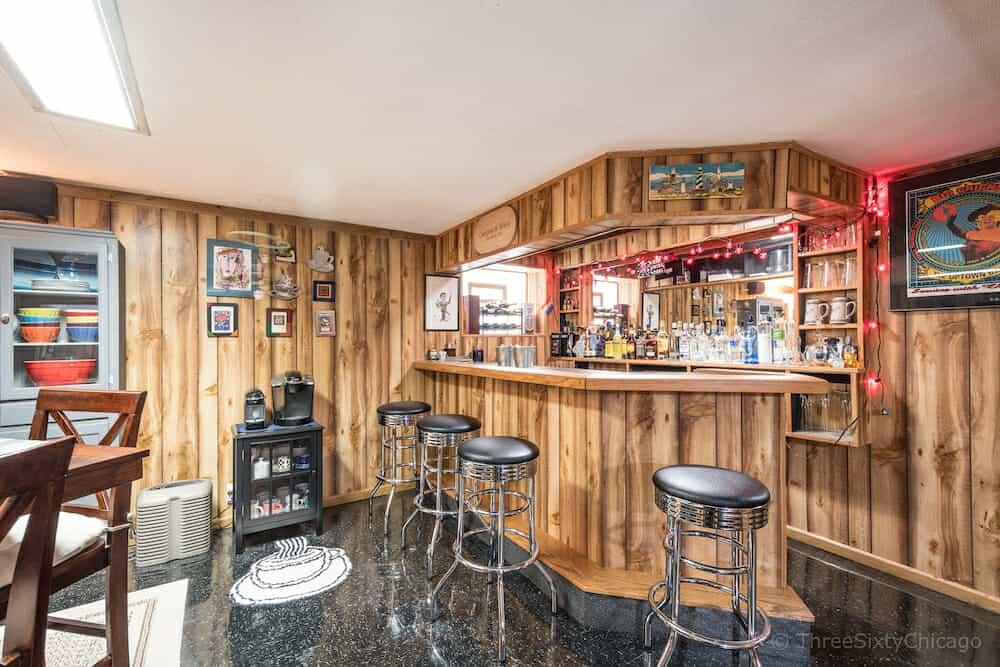 6647 N. Washtenaw Ave - Finished Basement and Bar