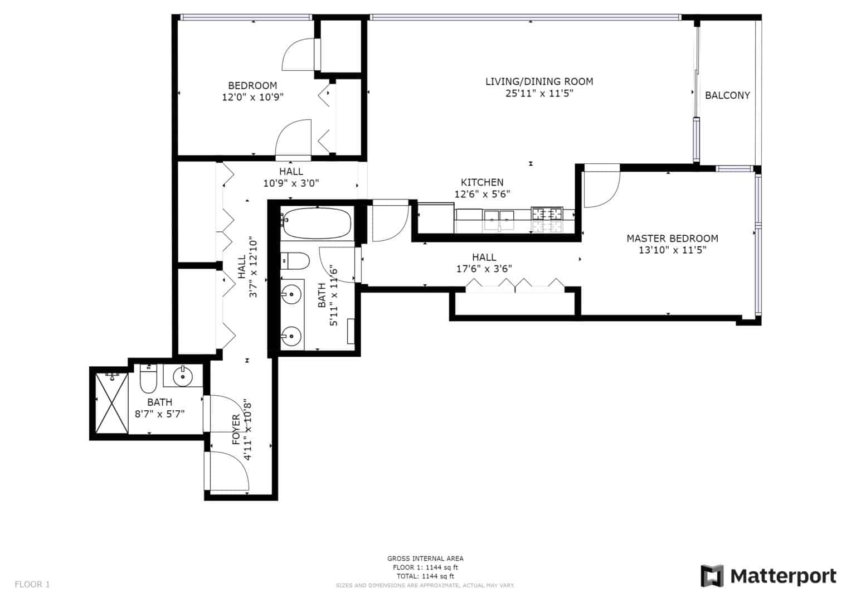 630 N Franklin Street Unit 911, Chicago, IL - Floor Plan