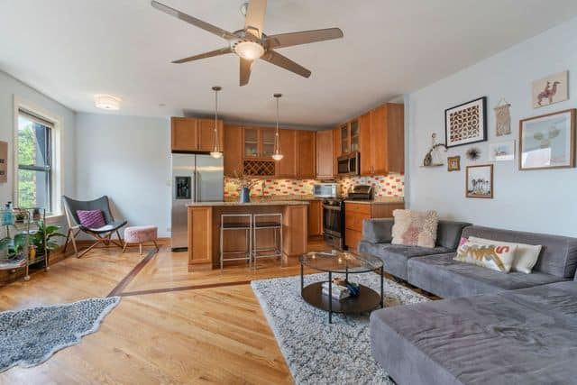 Open living space in Lakeview East Penthouse at 725 W Sheridan Road Unit 702, Chicago IL 60613