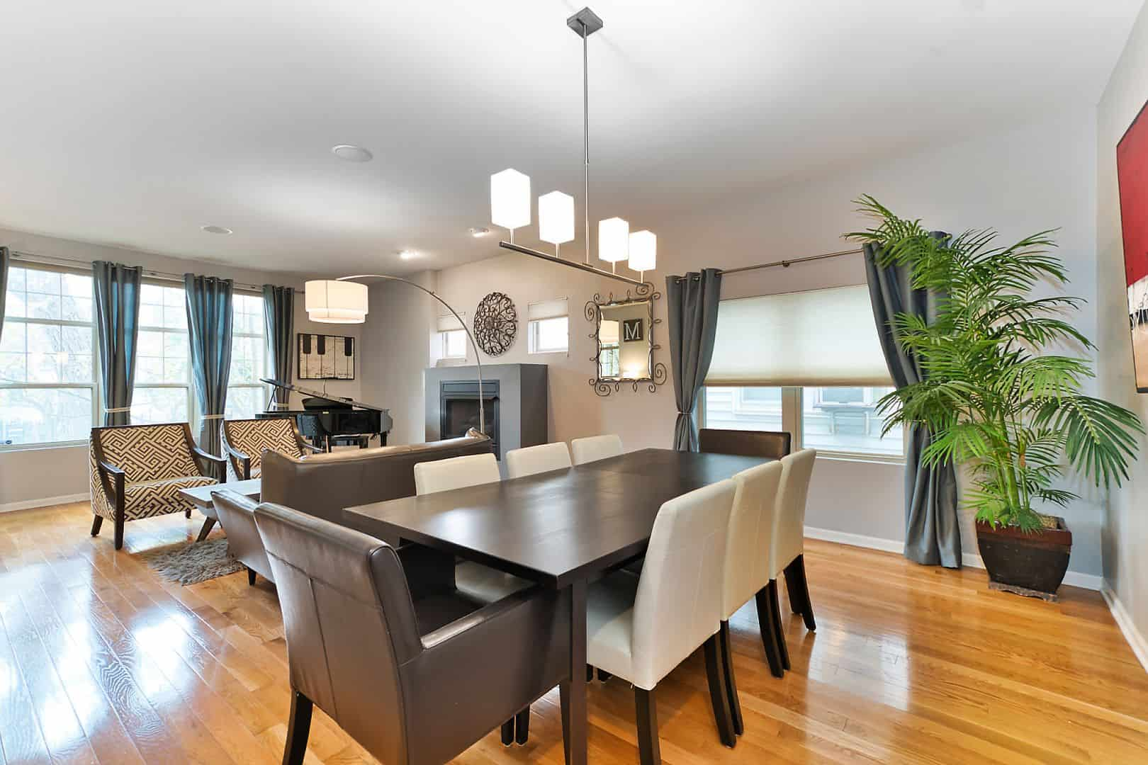 1821 North Talman Ave - West Bucktown Home - Living And Dining Area