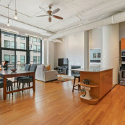 547 S Clark Unit 301, Chicago, IL 60605 - Bright Printer's Row Loft - Living Area