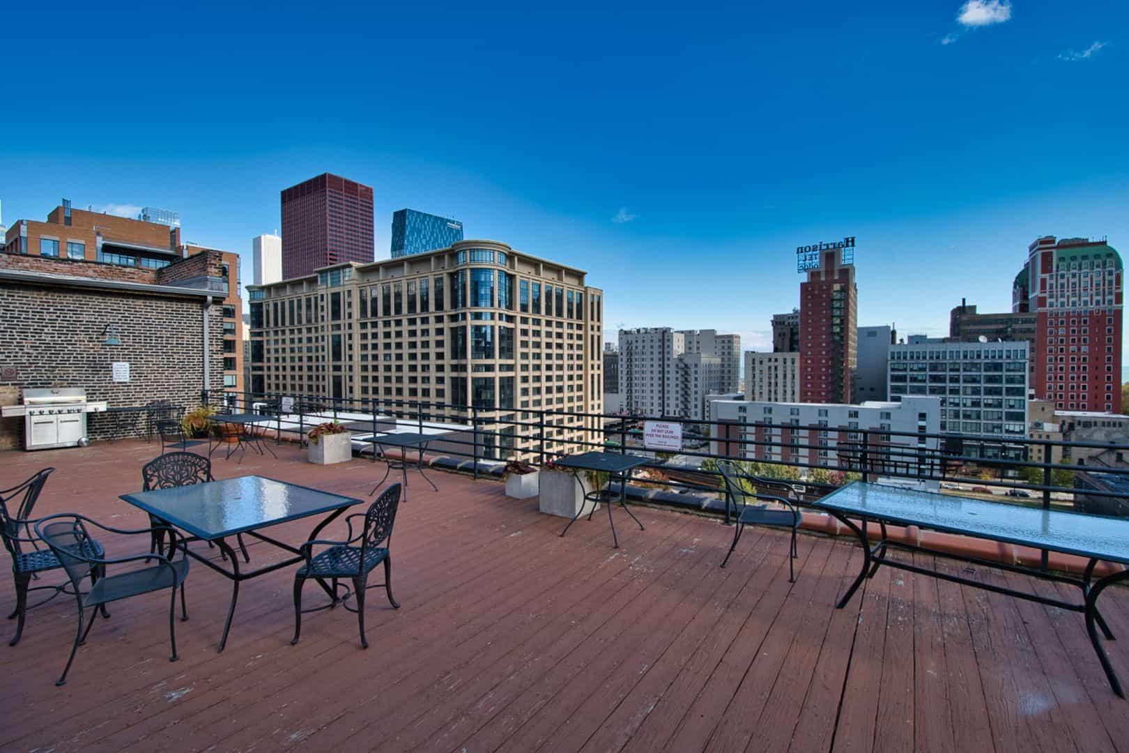 Printer's Row Concrete Loft - 621 S Plymouth Court, Unit 810, Chicago IL 60605 USA - Roof Deck