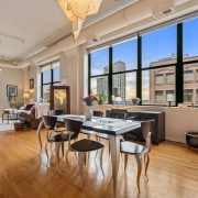 Classic Printer's Row loft - living and dining areas