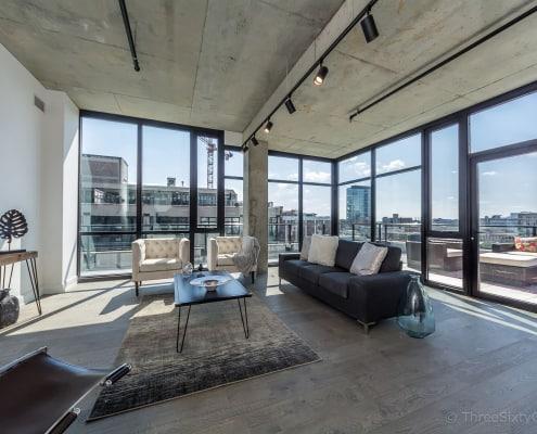 Living area in unit 809 - West Loop Luxury Condo at Illume, 111 S Peoria, Chicago IL 60607