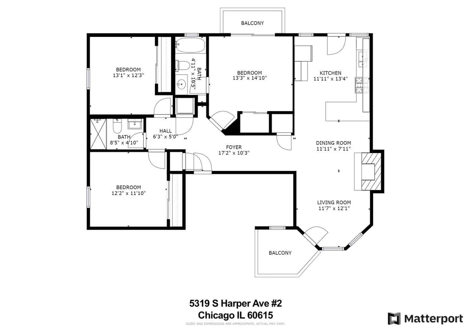 5319 South Harper - Floor Plan