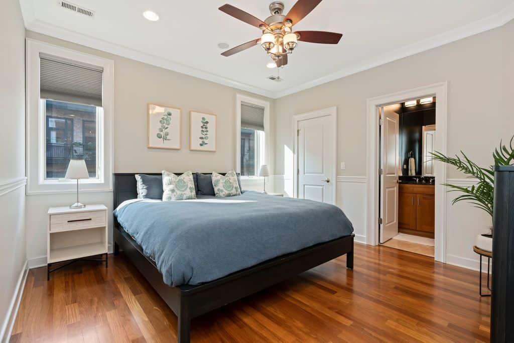 Main bedroom - 1035 W Monroe #3, Chicago IL 60607
