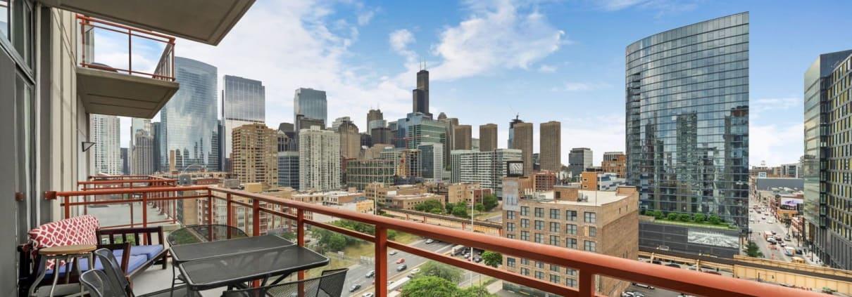 740 W Fulton, Unit 1102, Chicago IL - Balcony and View