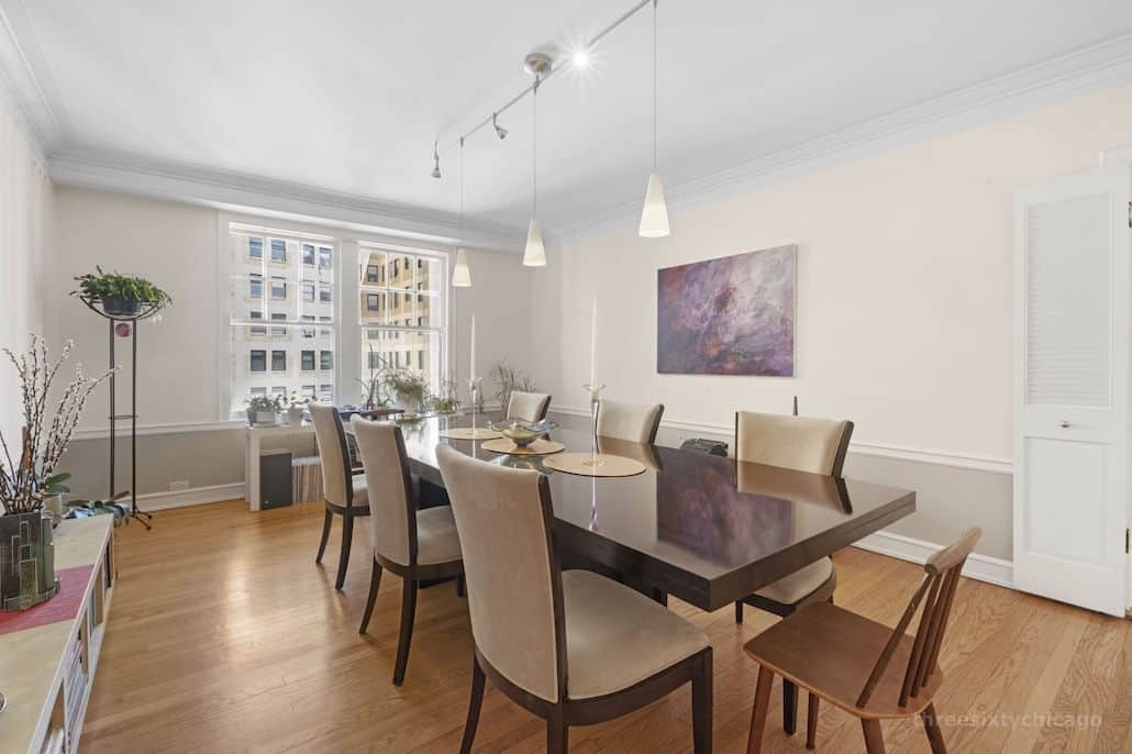Formal dining room - 415 W Aldine Ave, 13B, Chicago IL 60657 - Classic East Lakeview Condo